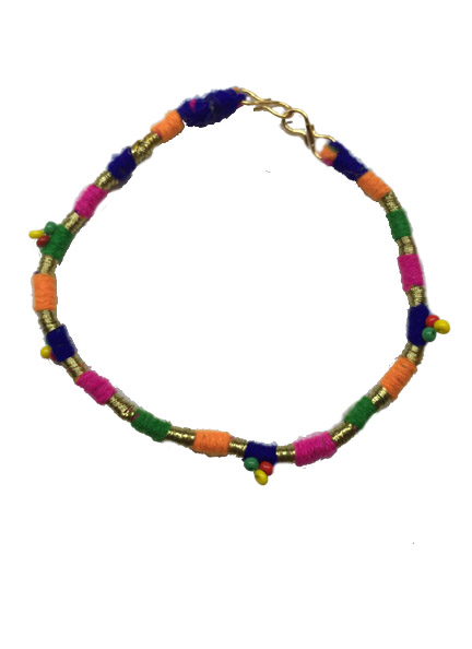 Multicoloured-beads-anklet