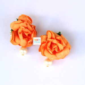 Orange Flower Paper Jewellery Set