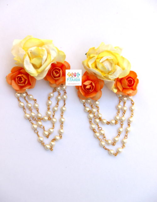 Exquisite Yellow Flower Paper Jewellery Set