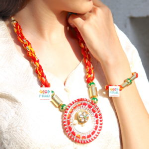 Gota Patti Jewellery Set