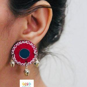Pink Handpainted Earrings Rangpitaara